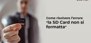Come risolvere lerrore la SD Card non si formatta