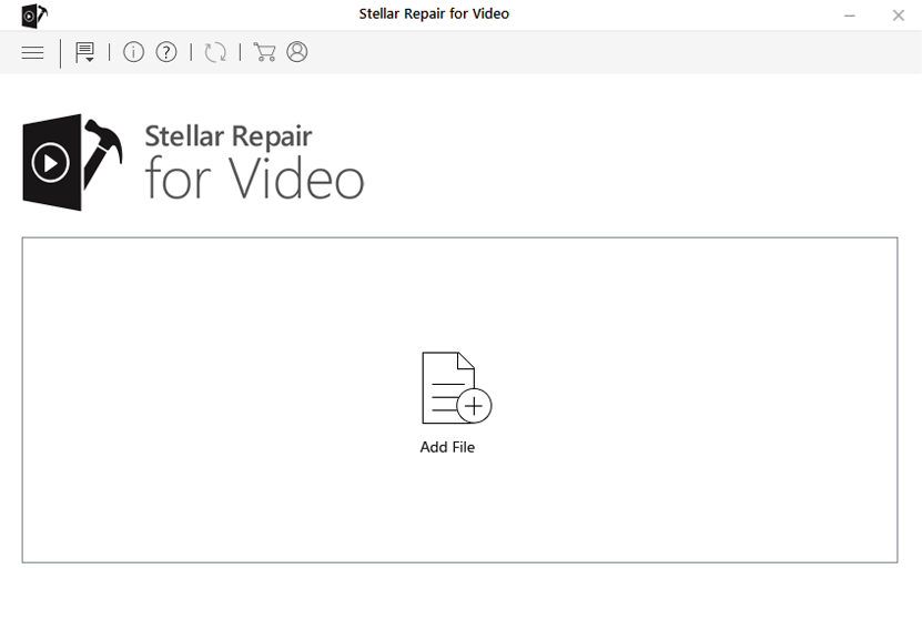 Click the add button to add video files to be repaired