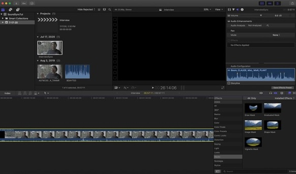 Newly synced clip is created