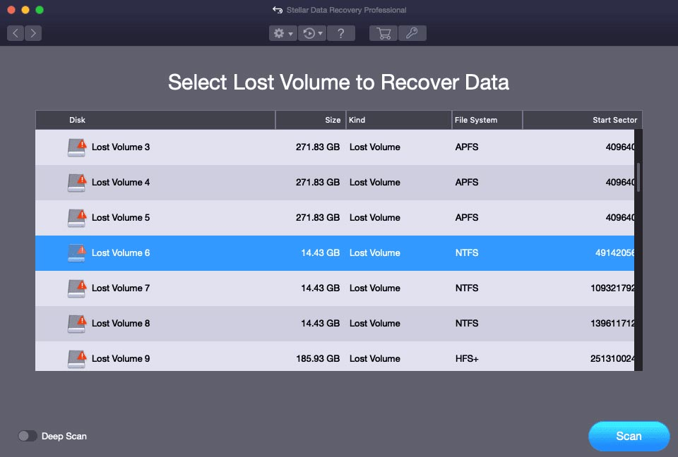 NTFS data recovery on Mac