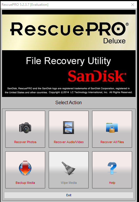 SanDisk RescuePro SD card recovery