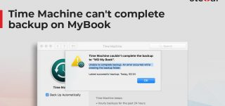 Time Machine can not complete backup on MyBook