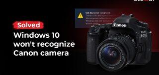 Windows 10 ne reconnaît pas l'appareil photo Canon