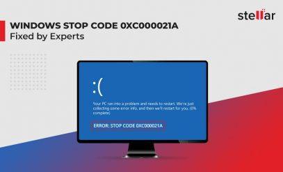 Windows stop code 0xc000021a error