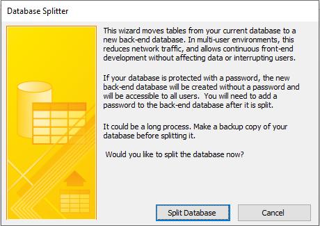 database splitter