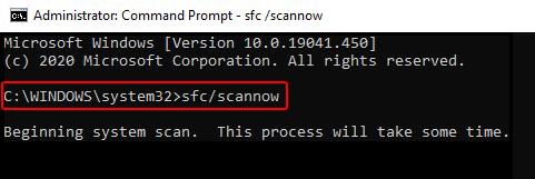 Run SFC ScanNow