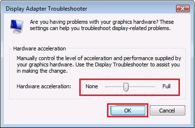 Display Adapter Troubleshooter