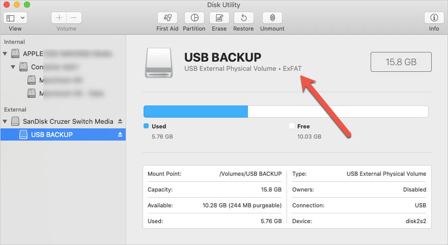 Check External hard drive