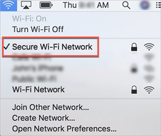 Check your network connection