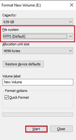 File System Format