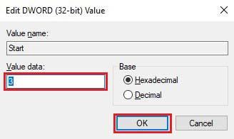 Enter Value data and Press OK