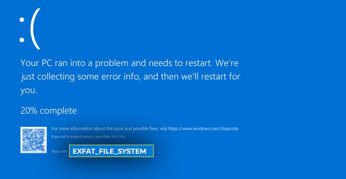 ExFAT_FILE_SYSTEM Error