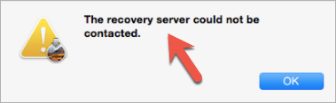 Recovery Server Could not be contacted