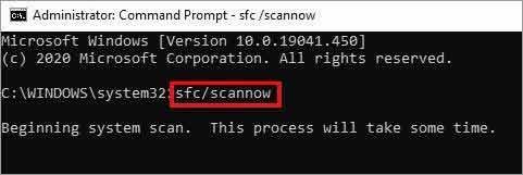 Run SFC scan Now