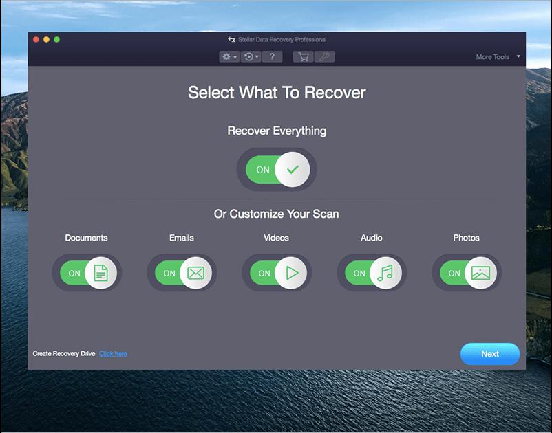 Select Files mac data recovery