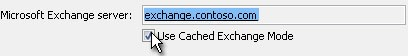 turn off cached exchange mode