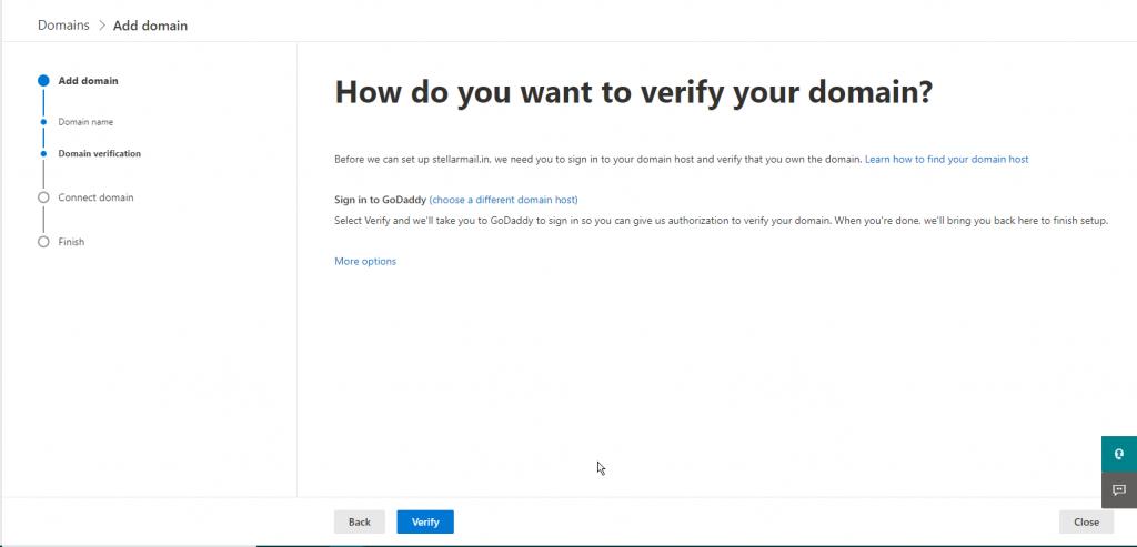 add txt records verify domain