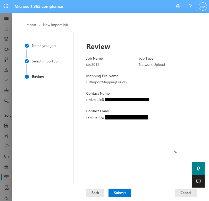 review uploaded map file and filters