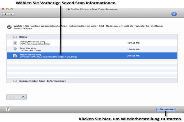 Screenshots Stellar Phoenix Mac Data Recovery