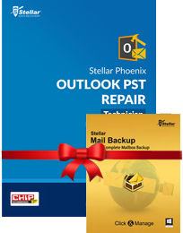 PST Repair - Tech + Mail BackUp box