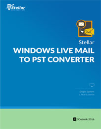 Stellar Windows Live Mail to PST Converter