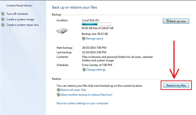 Restore from Backup (Windows and Mac) Free