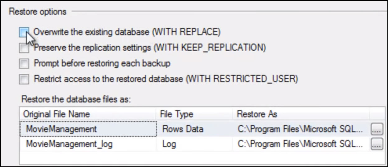 Restore Database in SQL Server 2014 from  Bak File Step By Step