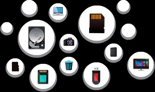 Recupera Datos en Todos los Tipos de Medios de Almacenamiento