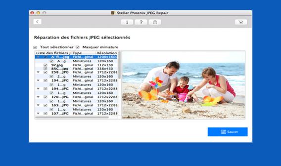 Réparation JPEG pour Mac
