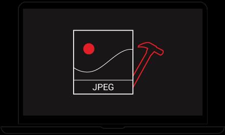 Repariert fehlerhafte JPEG Fotos