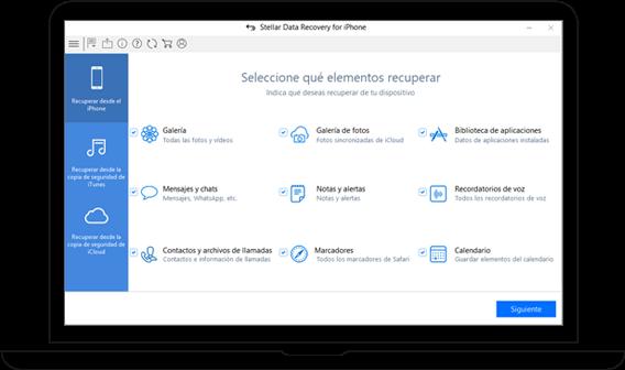 Software completo de Recuperación de Datos iOS