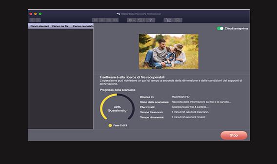 Recupero dati standard per Mac