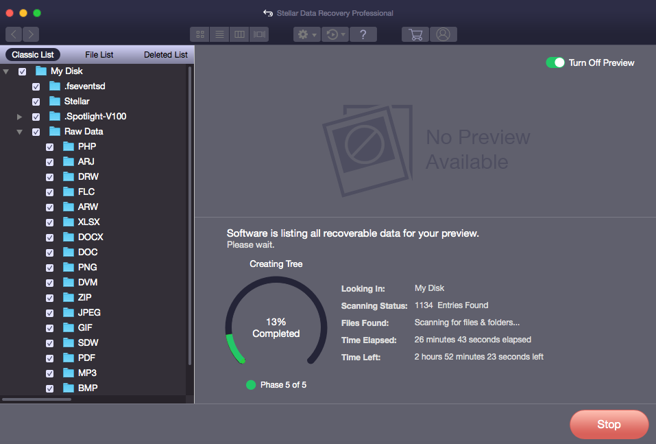How to Save & Load Scanning Result in Mac Recovery   Stellar KB
