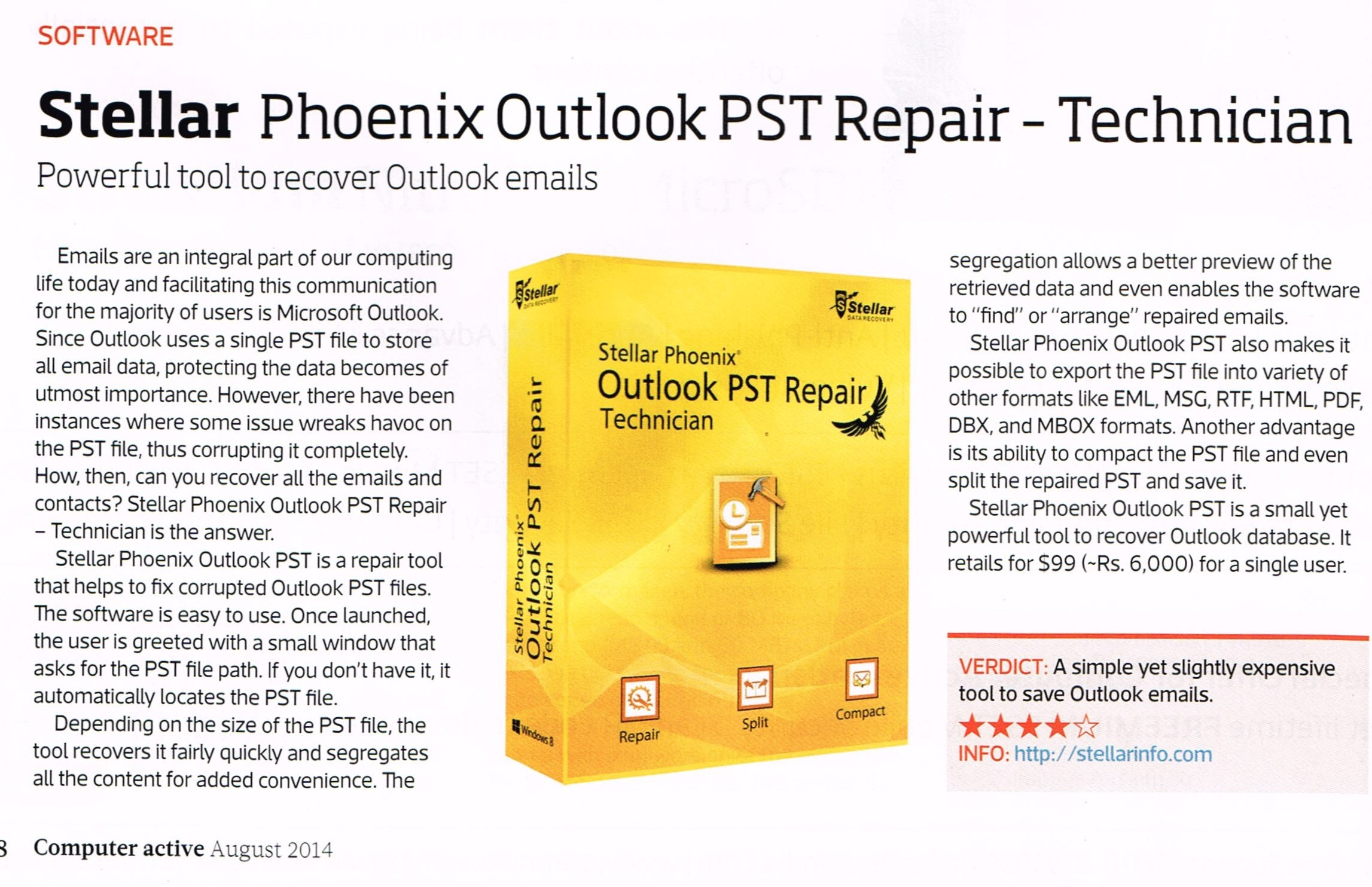 Outlook 2010 Export Pst >> PST Repair Tool to Recover All Outlook Mailbox Items ...