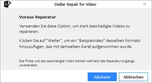 Stellar Repair For Video Stellar Online Help