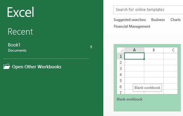 blank excel workbook