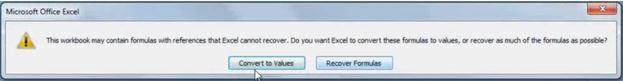 Recover Excel 2007 File