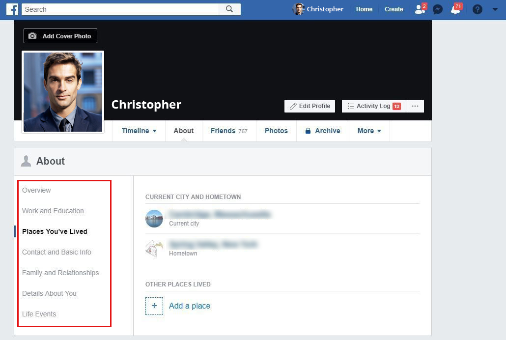 delete-personal-information-from-facebook-on-web