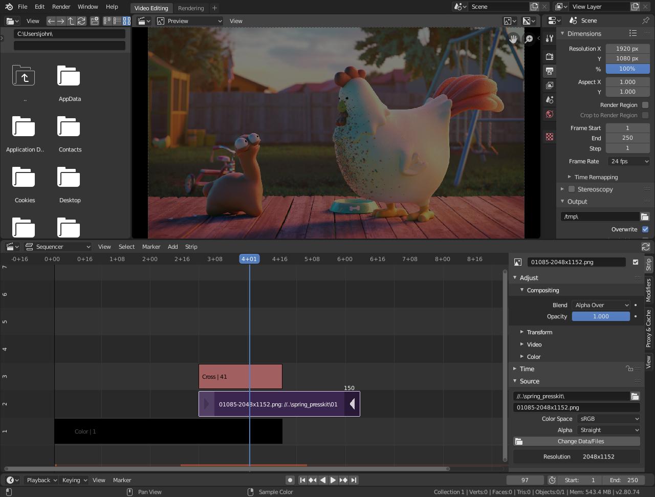 Blender best video editing software