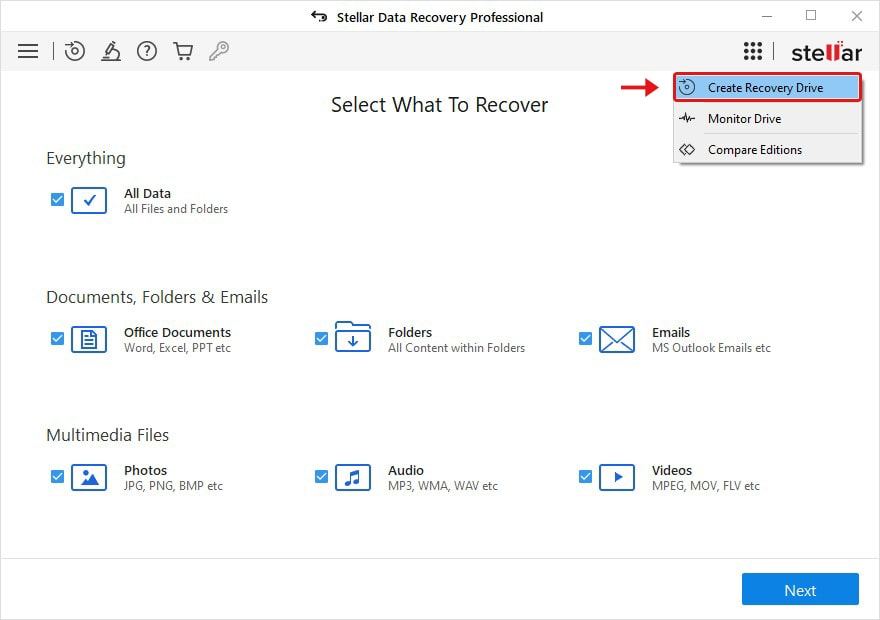 what To Recover Screen