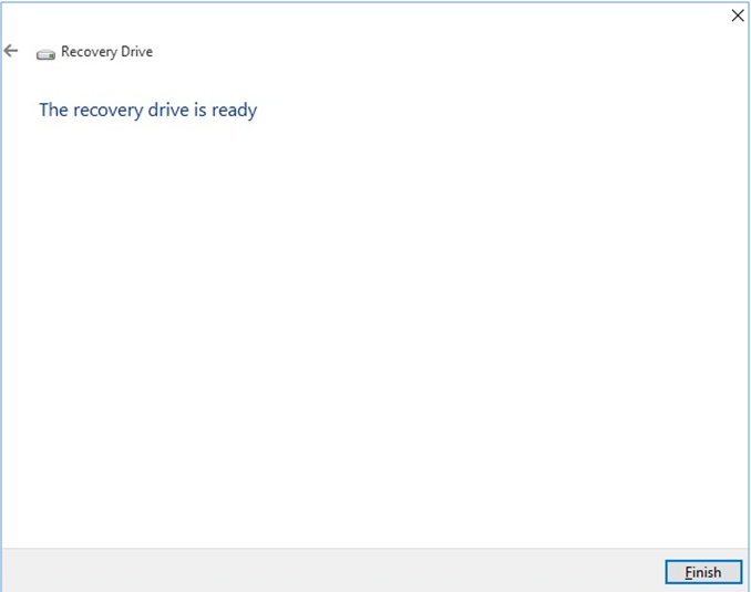 Create Recovery Media for Windows