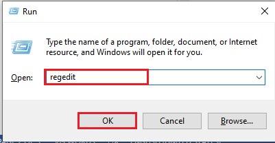 Open Run Command Box