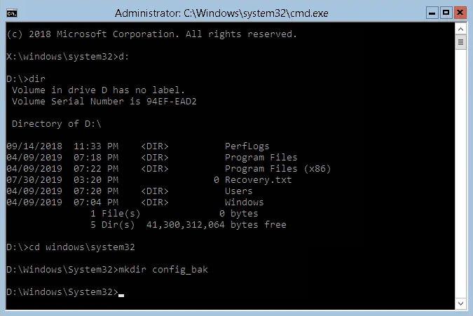 Windows System 32 Config