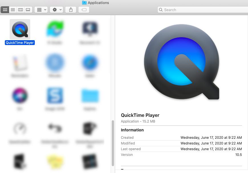 Apple Quick Time Mac