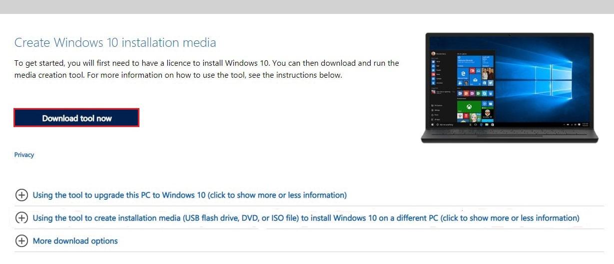 Go to Microsoft Windows 10 Page