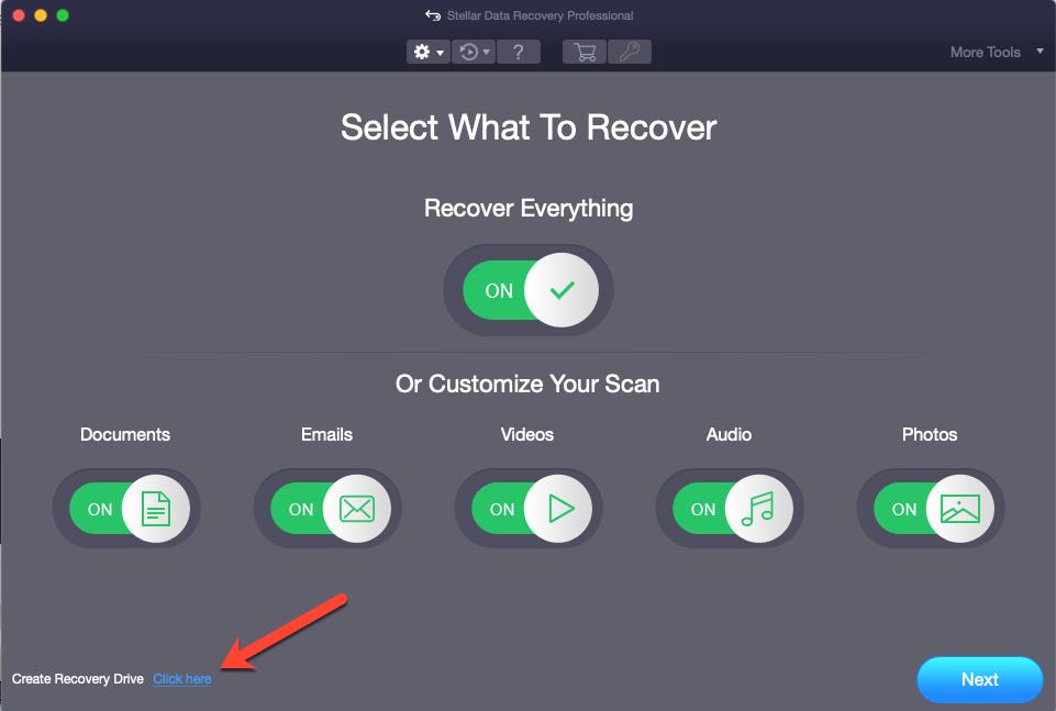 Create Recovery Drive Mac