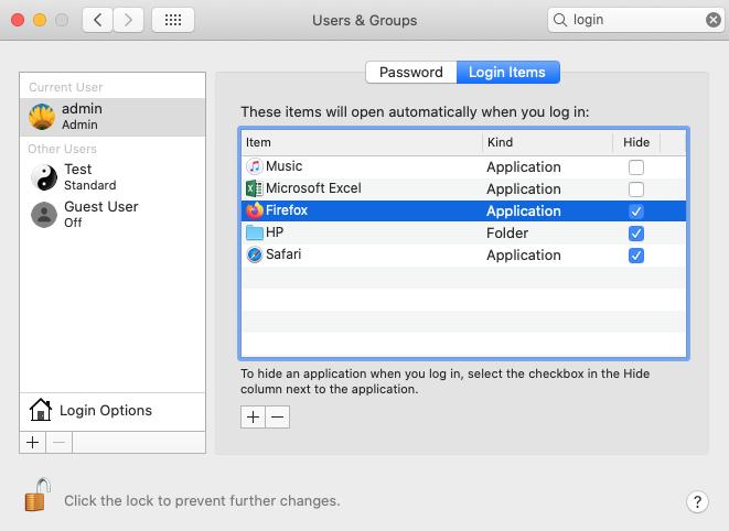 Manage Mac Login Items