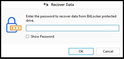 Provide the encrypted key Password