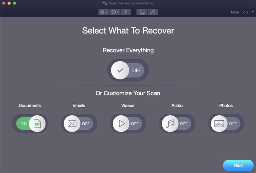Select Excel File for Recovery
