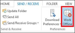 work offline mode Outlook